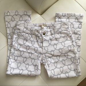 Cabi Nautical Rope Jeans Cropped Pants Size 0